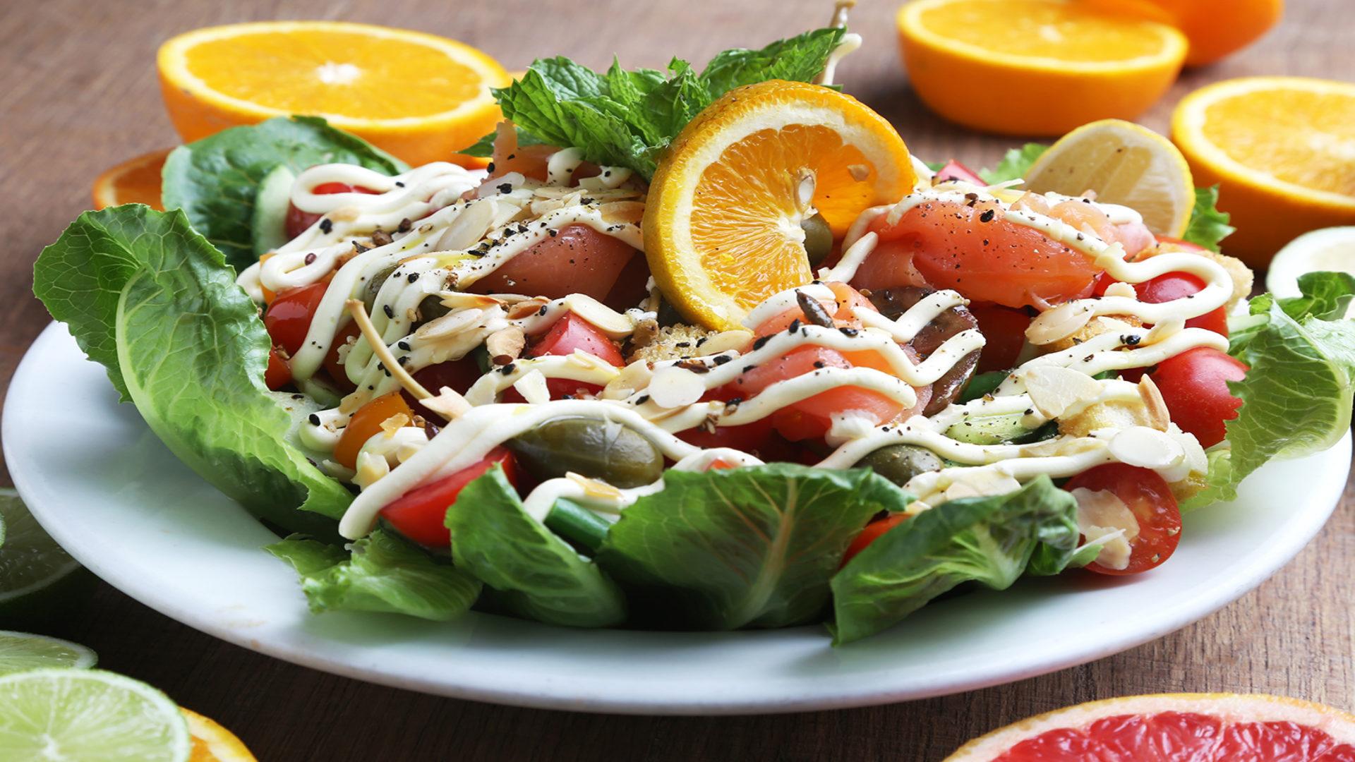 Salmon Salad, Burgundy Restaurant