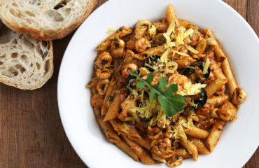 Seafood pasta, Burgundy Restaurant