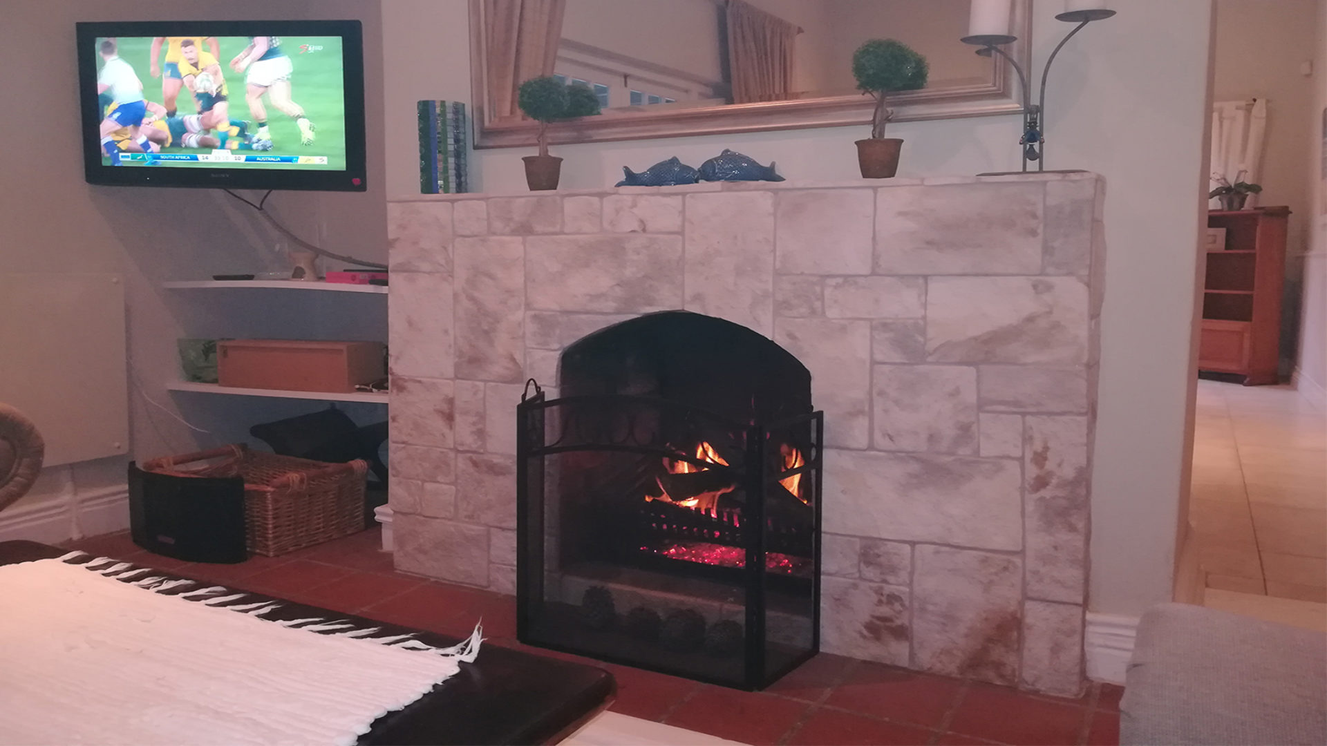 Summer House fireplace