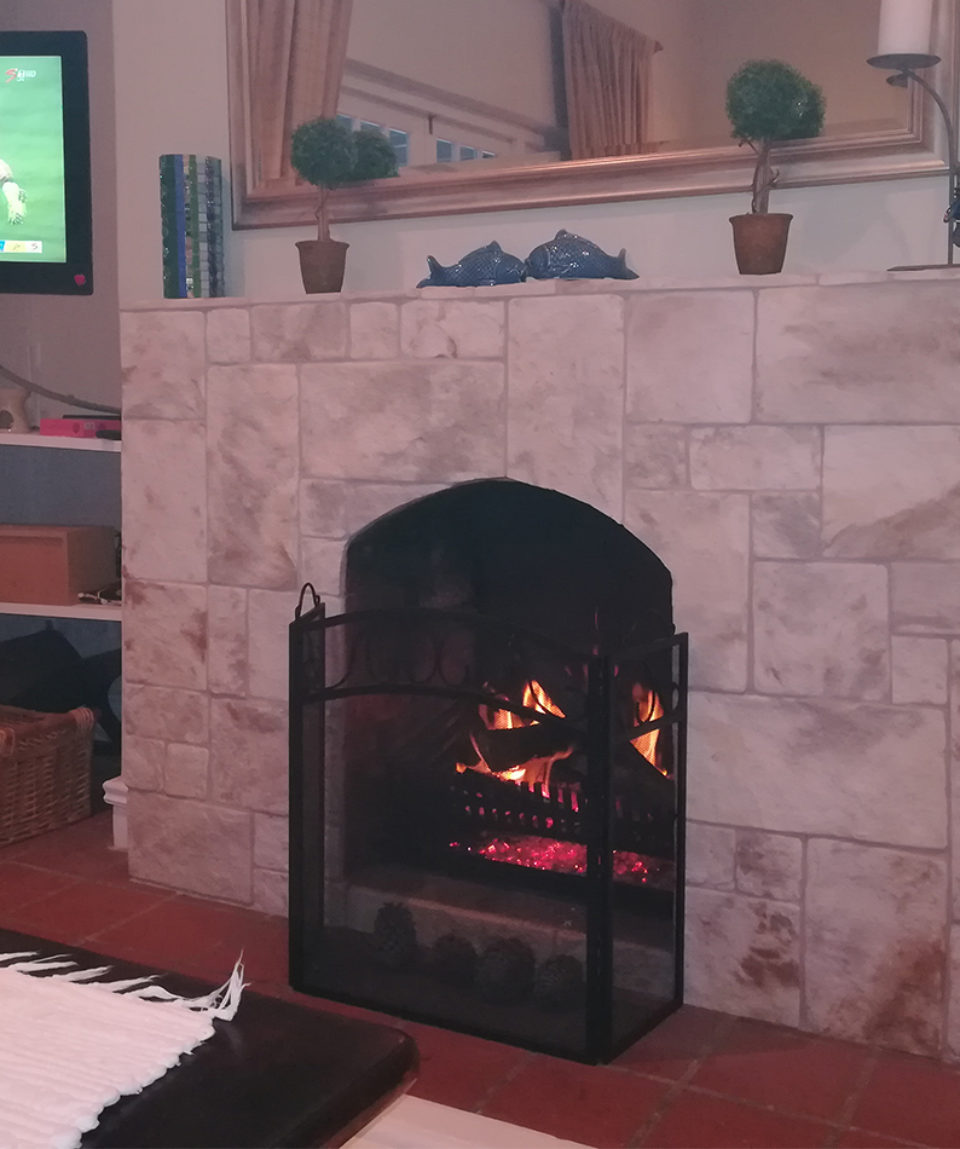 Summer House fireplace