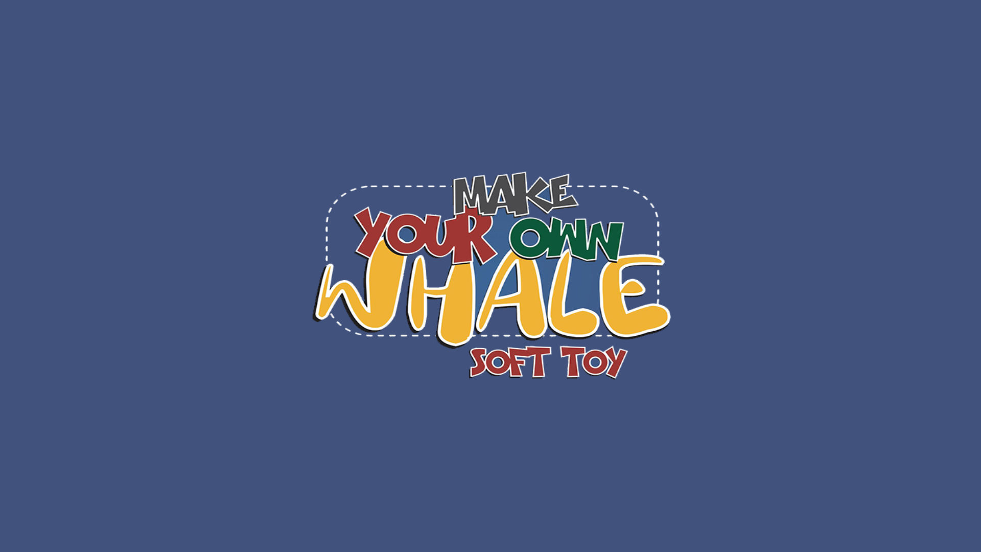 Make Your Own Whale Soft Toy